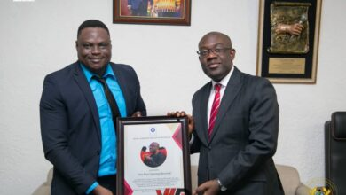 Photo of PHOTOS: Hon Oppong Nkrumah Honoured For Apt Management Of Government Information