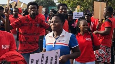 Photo of PHOTOS: Cape Coast Youth Demonstrate Over Lack Of Development