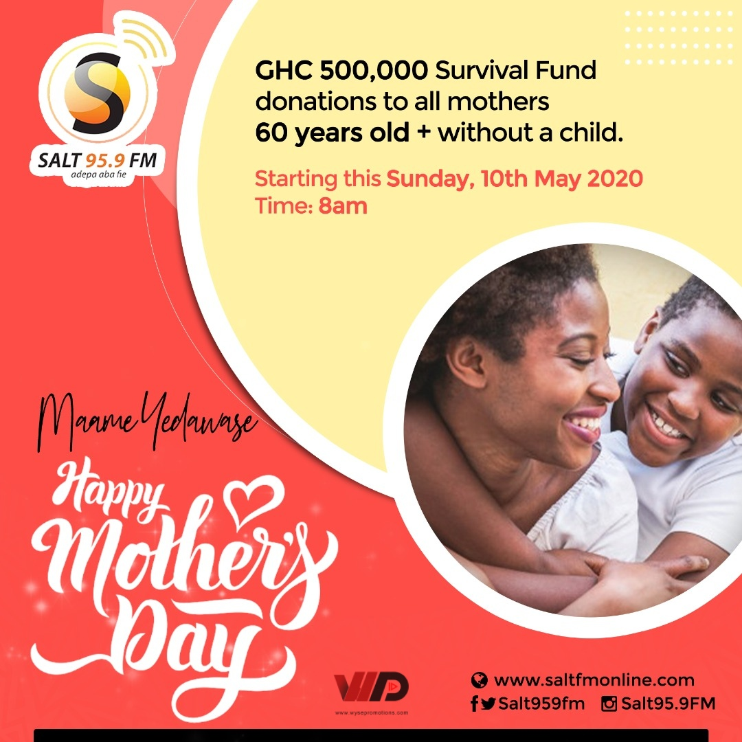 Photo of SALT MEDIA GH Uses MOTHERS DAY 2020 To Launch 500,000 Cedis Survival Fund For Women