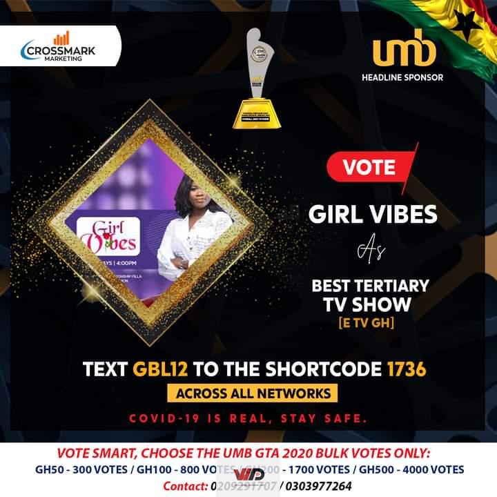 Photo of eTV Ghana's Girl Vibes Nominated For 2020 UMB Ghana Tertiary Awards