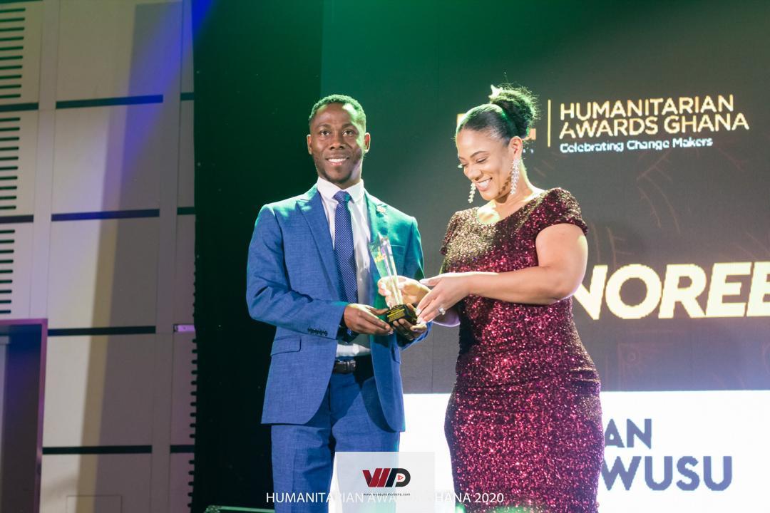 Photo of Jonathan Osei Owusu Honoured At Humanitarian Awards Ghana 2020