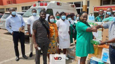Photo of PHOTOS: Germany-based Ghanaian Nurse Theodora Acheampongma Donates To Manhyia District Hospital