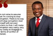 Photo of Even God Can't Stop Corruption In Ghana – Kissi Agyebeng